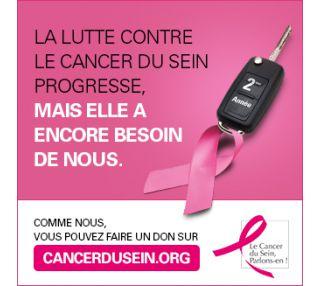 Une deuxième année en tant que partenaire de l'association « Cancer du sein, parlons-en ! »